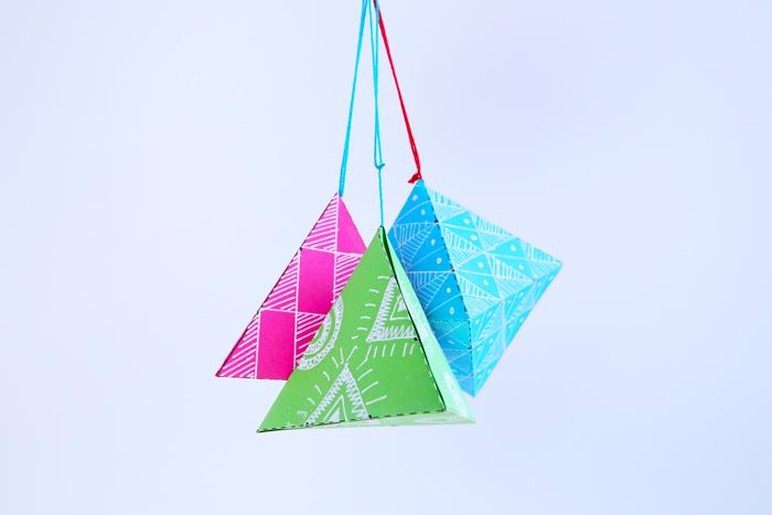 Paper Shape math idea 3d geometric shapes babble dabble do