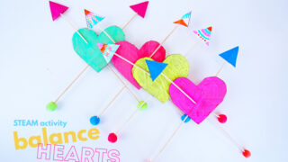 How to Make a Balance Toy: Balance Hearts STEAM Activity