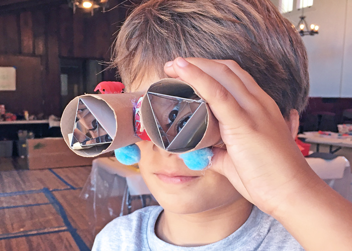 DIY Teleidoscopes: A simple open ended DIY kaleidoscope you can make at home. Great science project for kids exploring optics and light.