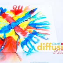 Easy Art and Science Idea: Diffusion Art