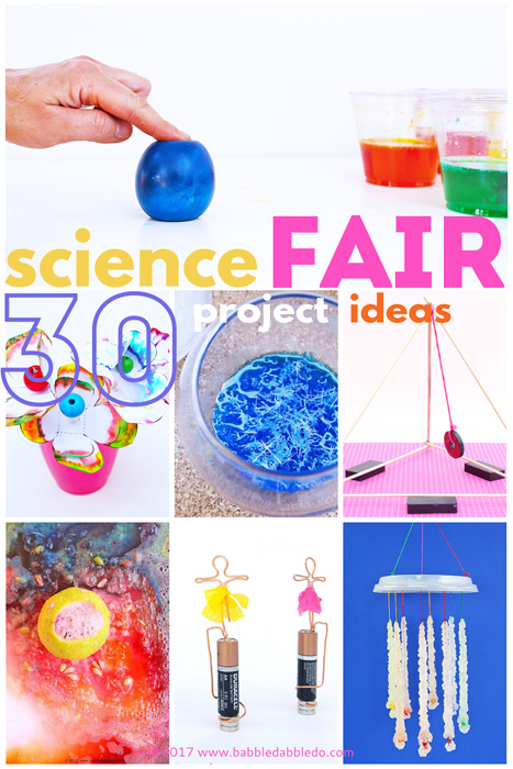 30+ Science Fair Project Ideas for Kids- based on grade level.