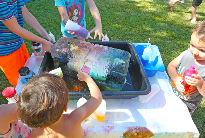 Melting Ice Experiment: Melt ice using salt and warm water to create ice sculptures. Perfect summer STEAM activity for kids of all ages!