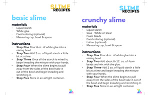 It's just an image of Challenger Slime Recipe Printable