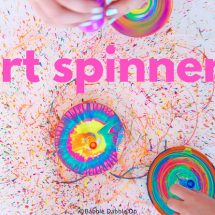 DIY Spin Art: Art Spinners from STEAM Play & Learn