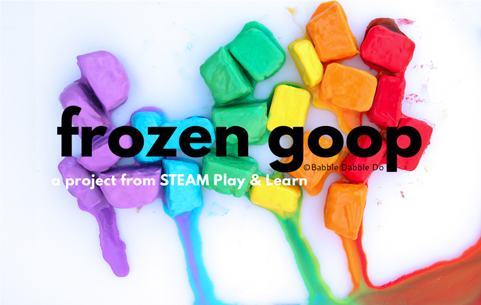 Learn how to make goop...and freeze it! Use it for sensory play, science, art and more. Project from the book STEAM Play & Learn.