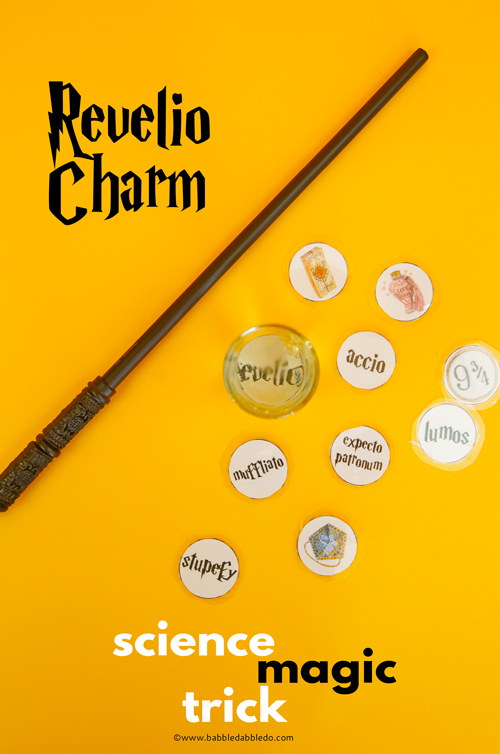 Revelio Charm: A Science Magic Trick for Kids inspired by Harry Potter