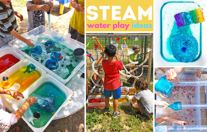 10 irresistible STEAM water play ideas just perfect for hot summer days!