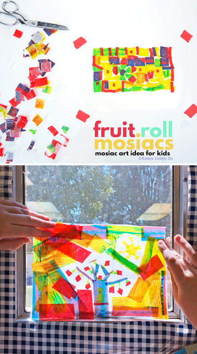 Easy {and EDIBLE} Mosaics for Kids: An art project you can eat afterwards!