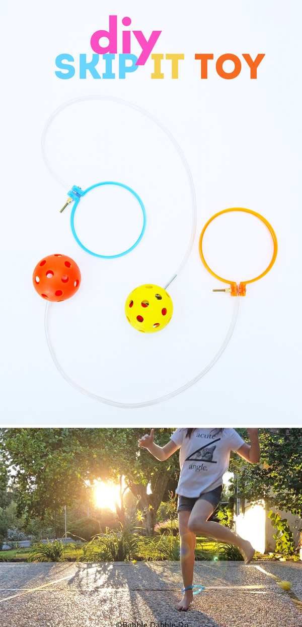 Homemade Toy Idea: DIY Skip-It. Learn about centripetal force and engineering in this easy to make DIY toy!