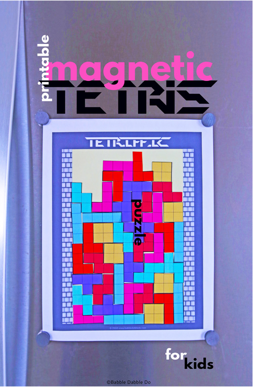 Tetrific- Printable Tetris Puzzle For Kids. A geometry game your kids will love!