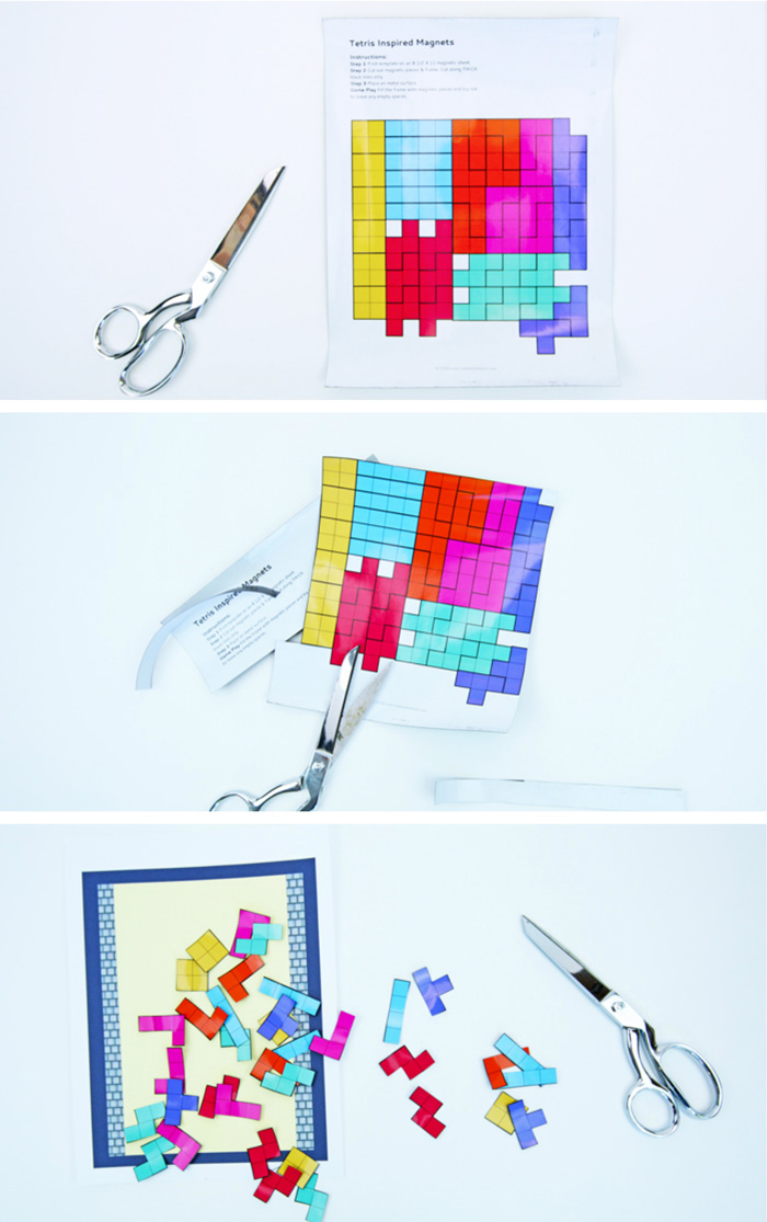Tetrific A Printable Magnetic Tetris Puzzle For Kids