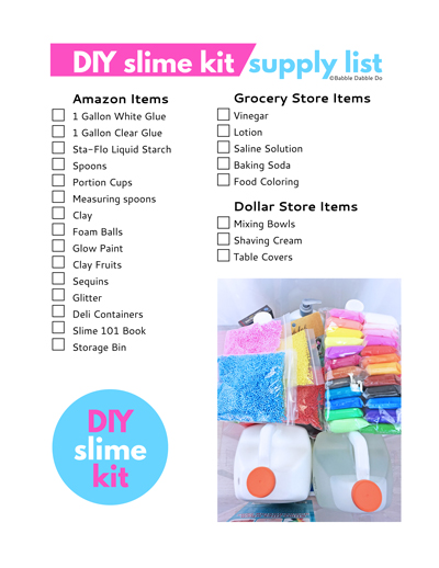 picture relating to Slime Recipe Printable called How in the direction of Create Your Personal Mive Do-it-yourself Slime Package - Babble Dabble Do