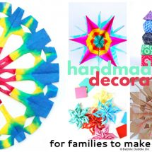 9 Colorful Handmade Decorations for Families to Make