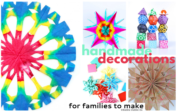 Colorful Handmade Decorations for Families to Make