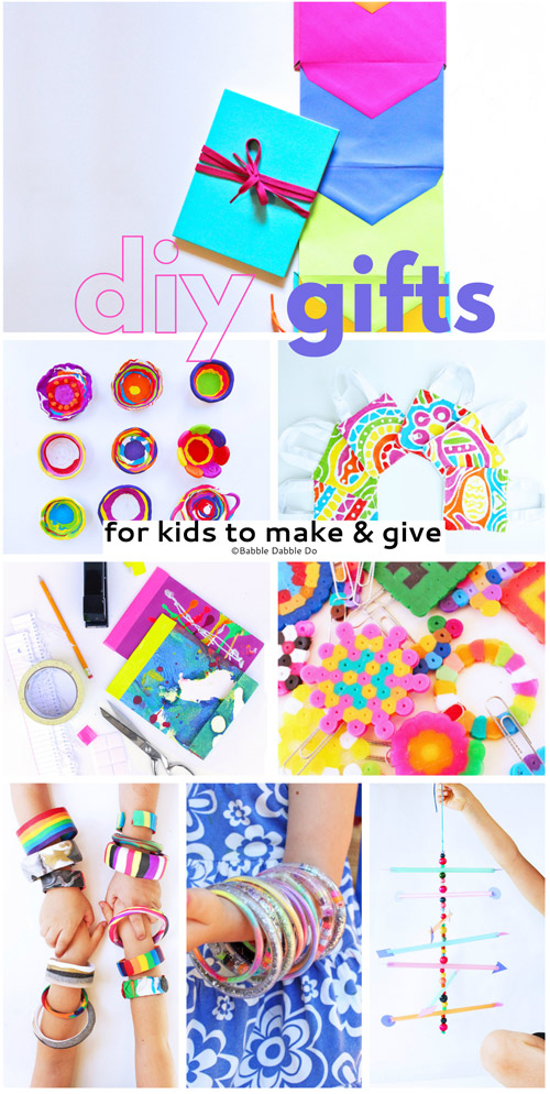 Kids Make the Best Presents! 12 DIY gifts for kids to make & give to family, friends, teachers and more!
