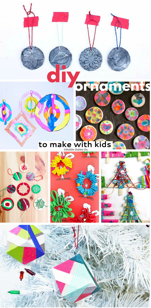 Making homemade ornaments with your kids is a wonderful tradition to start!