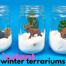 "How To Make An ""Instant"" Winter Terrarium For Kids"