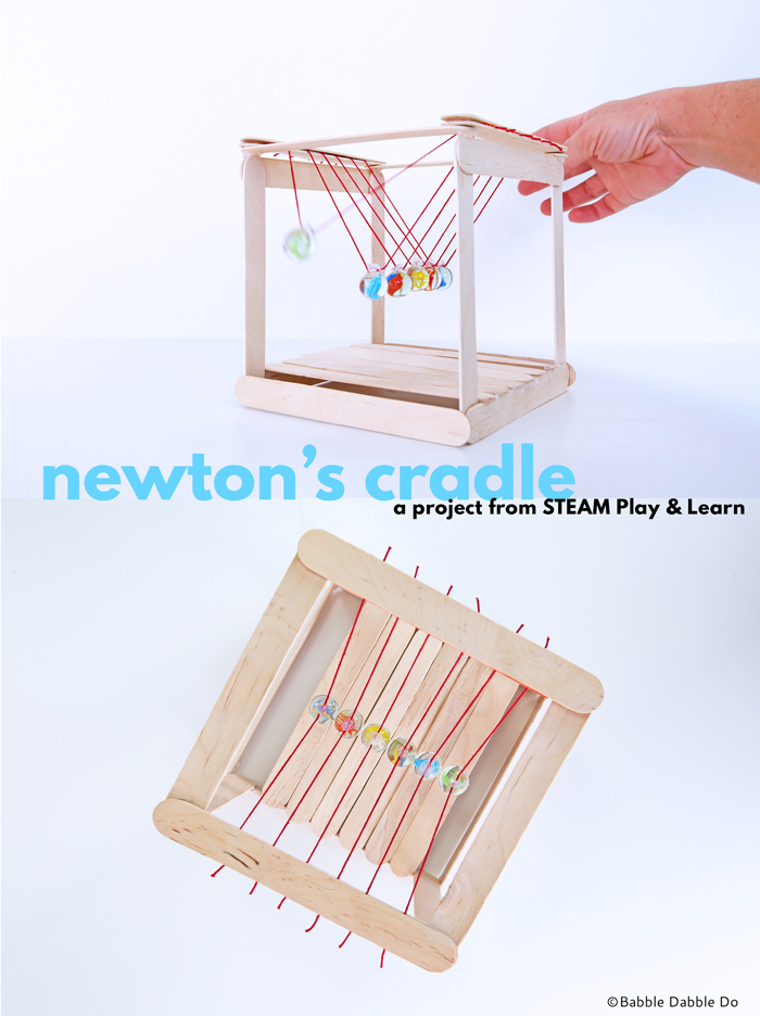 Learn how to make a simple Newton's Cradle, the classic science project demonstrating momentum!