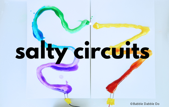 Salty Circuits: In this simple circuit project, kids will create an electrical circuit using salt to conduct electricity and power a light emitting diode (LED).