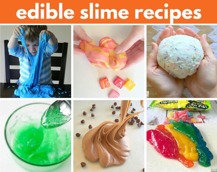 Edible, taste-safe slime recipes for kids.