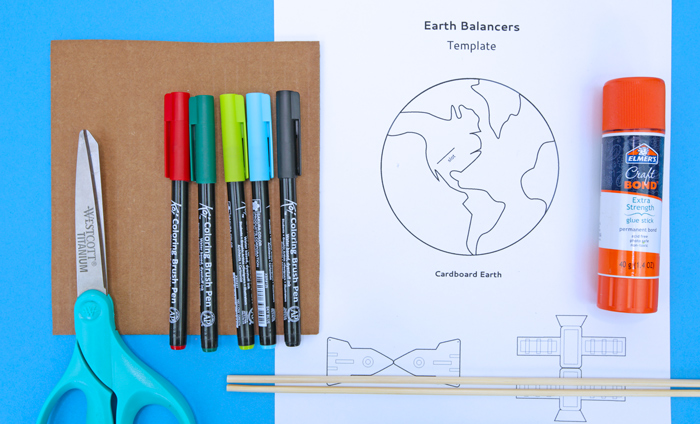 Earth Balancers: Materials needed for this earth day activity.