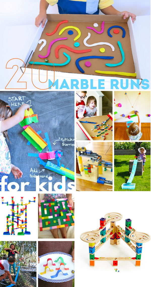 From DIY to deluxe, choose (or make) a marble run your kids will love! We show you the best homemade and store bought marbles runs for kids!