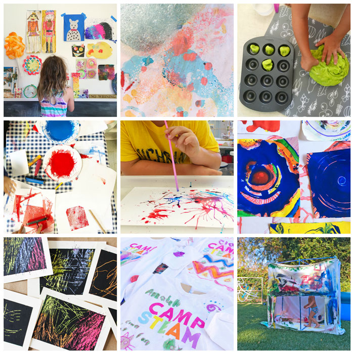 Some of the many projects we've tried inspired by The Artful Parent book and blog.