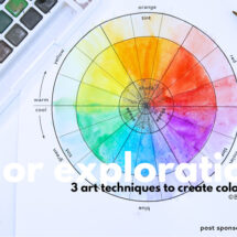 Color Explorations: A Simple Color Wheel Project For Kids
