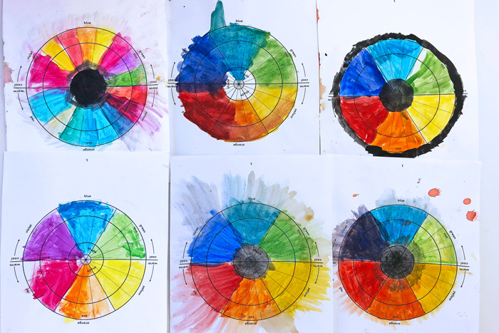 A simple and lovely color wheel project for kids featuring 3 easy art techniques. Download the template and get started with color!