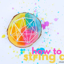 How To Do String Art With Kids (Scaled Up And Down)