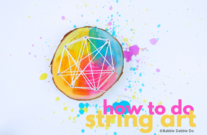 Learn how to do string art at two different scales (GIANT and mini) and use it as an opportunity to teach kids about geometry & levers.