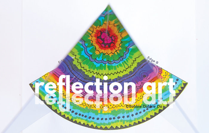 Reflection art is an incredible hands-on lesson in math, art, and science! A great STEAM activity for kids of all ages.