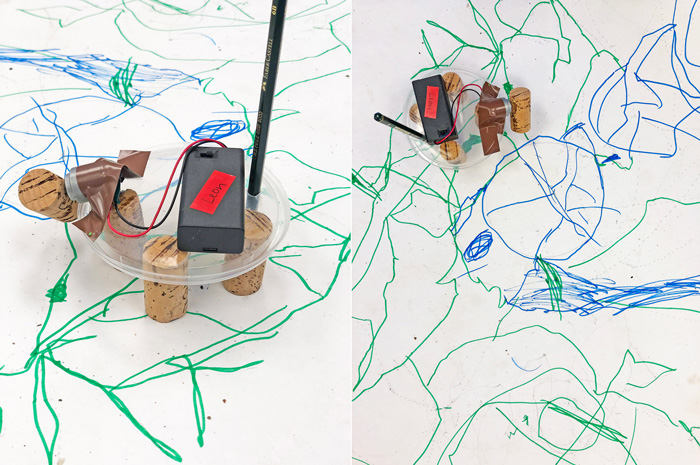 Learn how to make your own art bot in this easy electronics project for kids!