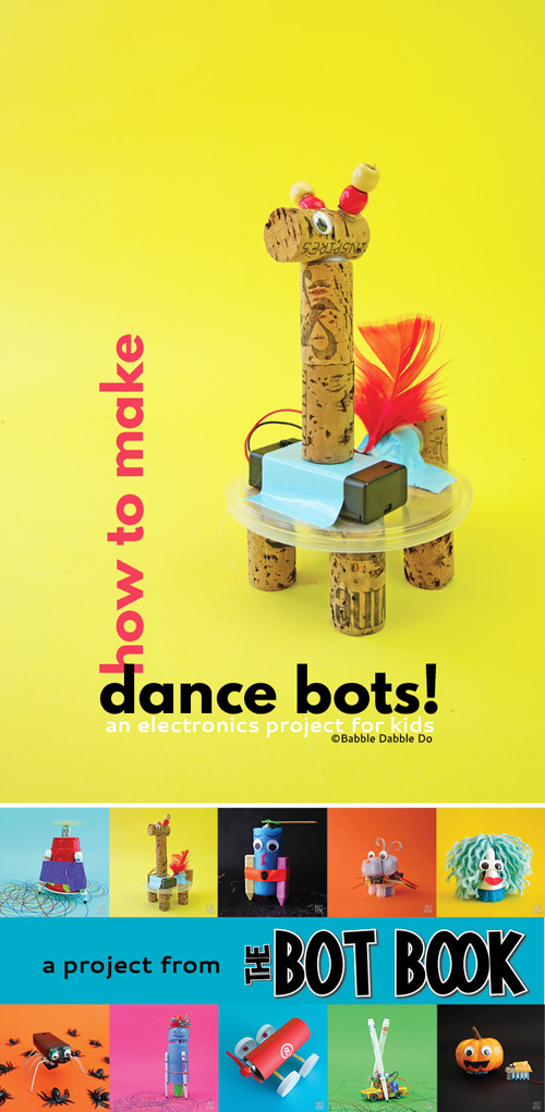 This easy electronics project for kids is the perfect STEAM activity. Learn how to make your own Dance Bot! The frame can also be used for an art bot.