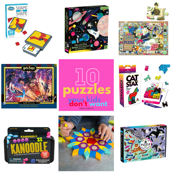 The best puzzles for kids tap into their problem solving skills and help them develop logical reasoning. Here are 10 of our favorites!