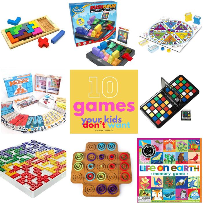 Your kids won't ask for any of these but they will love them! Here are 10 of the best board games for kids.