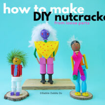 How to Make a DIY Nutcracker from Loose Parts