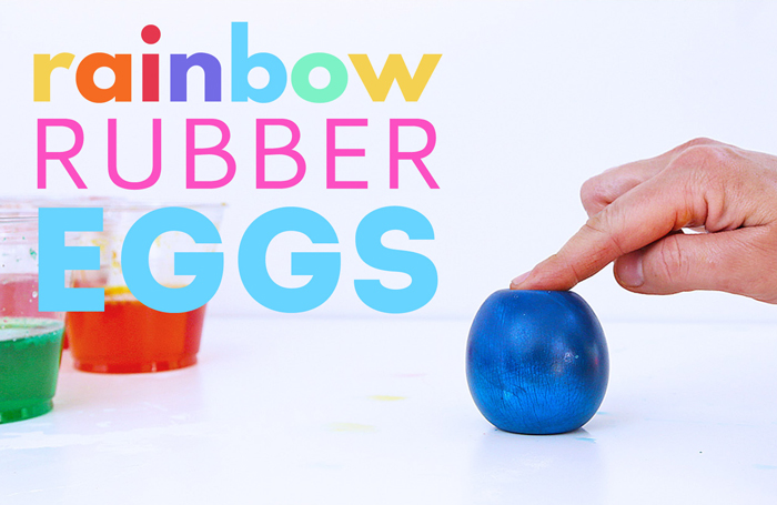 Learning how to make a rubber egg is a classic science project that kids love.