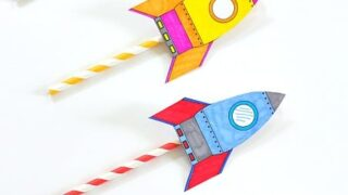 STEM for Kids: Straw Rockets (with Free Rocket Template)