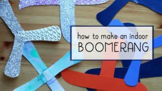 Make an Indoor Paper Boomerang with the Kids!