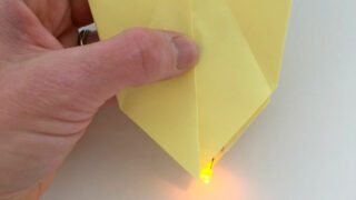 Origami Firefly Paper Circuits