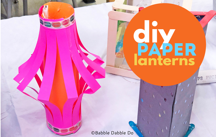 Learn how to make simple DIY paper lanterns. This is a fun paper project for kids!
