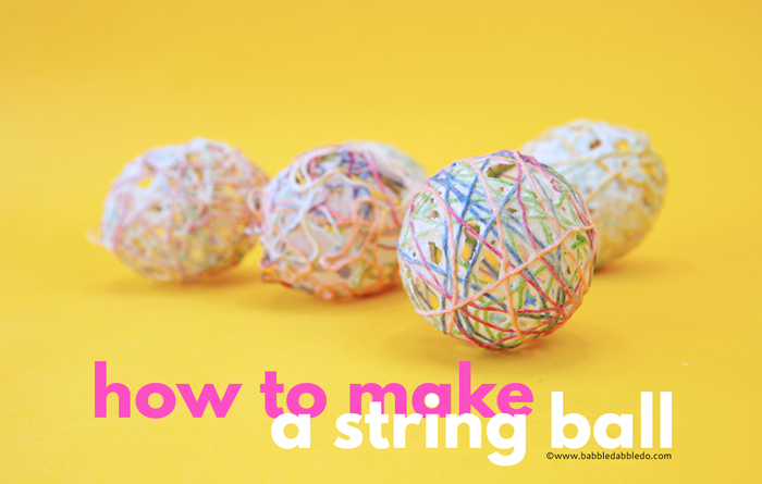 Learn how to make a decorative string ball using a homemade flour paste. These make beautiful holiday decorations for Easter, Christmas and more!