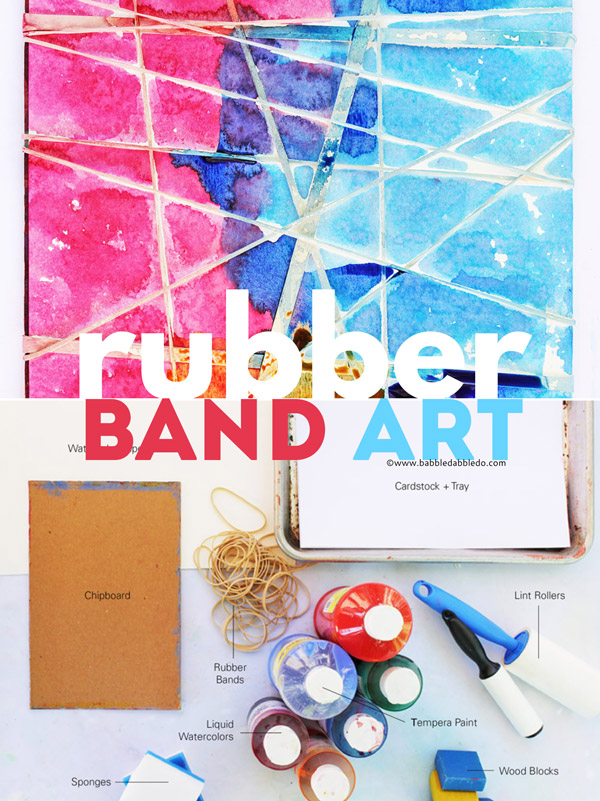Rubber Band Art features 3 ways to use rubber bands to make art! These are fun and easy art projects for kids.