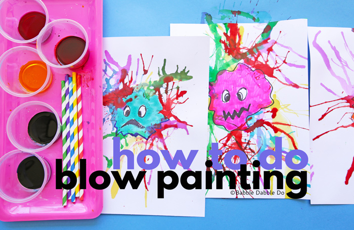 How To Do Blow Painting With Straws