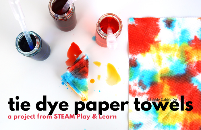Learn How to Tie Dye Something Unusual: Paper Towels