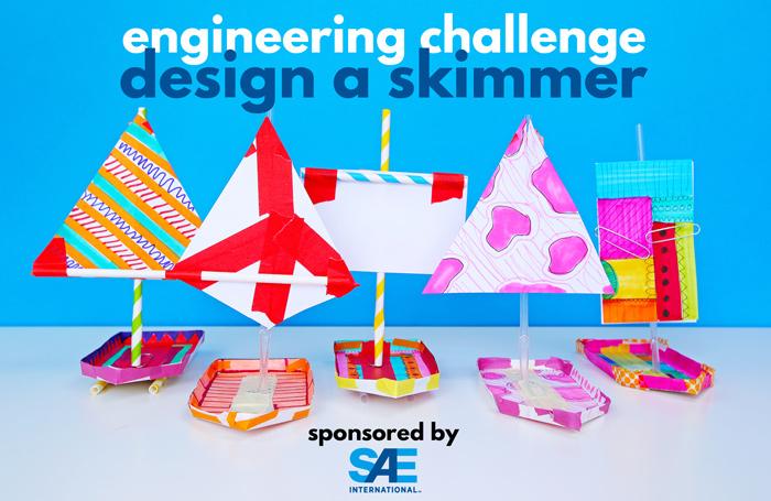 Engineering Challenge for Kids: Design a Skimmer Toy