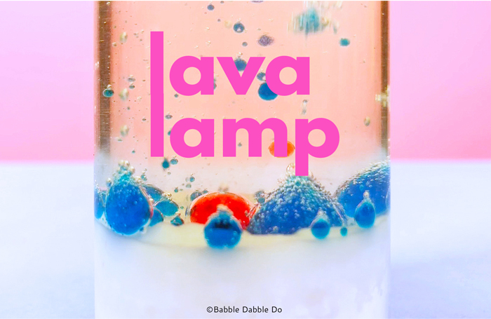 Learn how to make a DIY Lava Lamp with baking soda, a mess-free chemical reaction that will mesmerize kids!