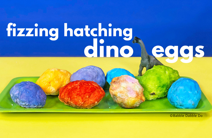 Kids of all ages will love this fizzing dinosaur science activity featuring baking soda! This is an engaging sensory play activity for kids.