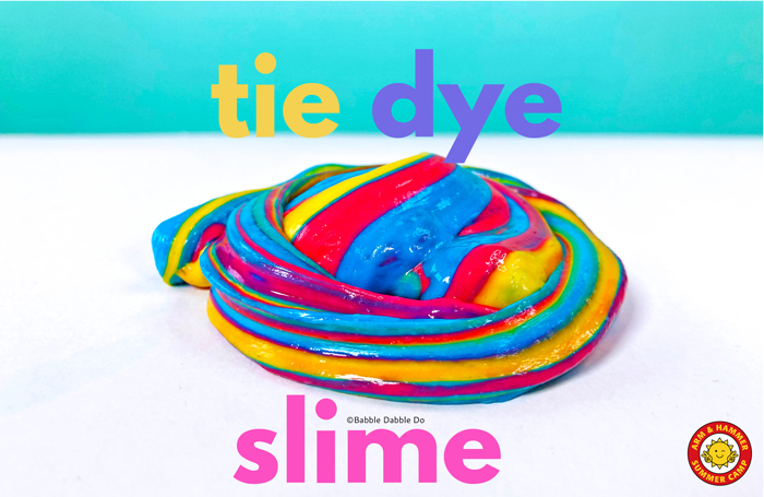 "Learn how to make slime with baking soda and ""tie dye"" it for a colorful effect!"